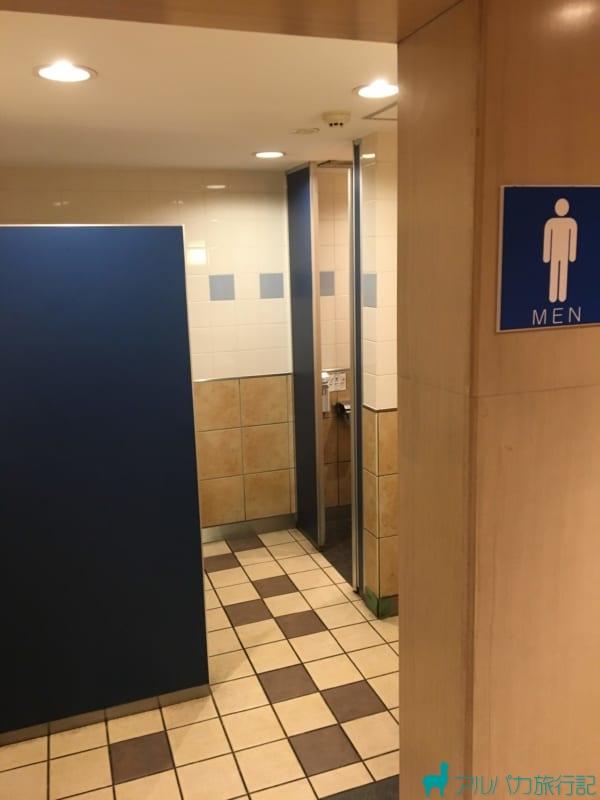 茶屋町あるこの2Fトイレの内観