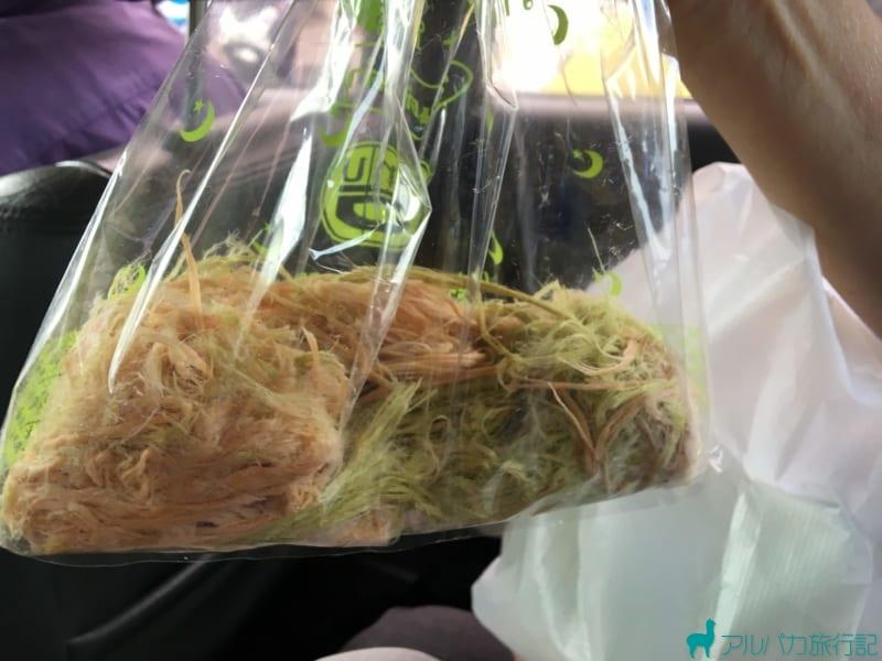 ロティ・サイマイは透明な袋に詰められて売っていることが多い