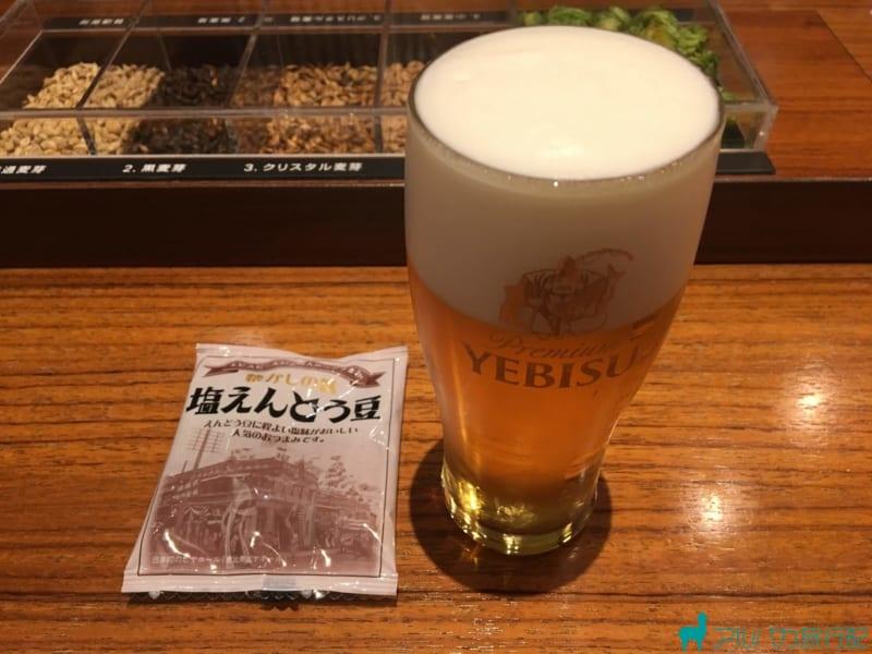 ヱビスビール記念館での試飲タイム