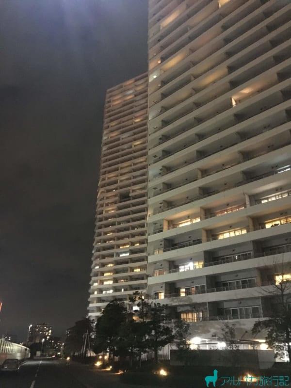 INSPA横浜の目の前は閑静な高層マンション群